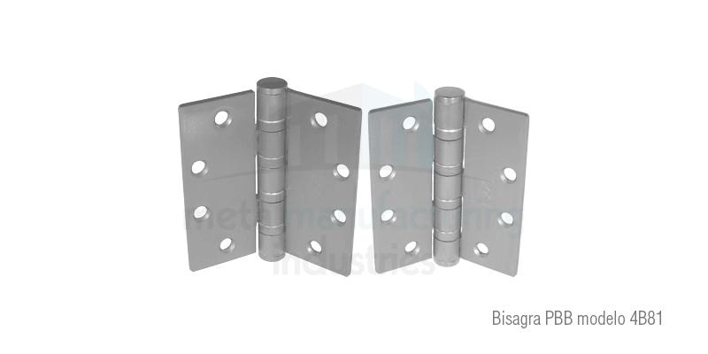 Bisagra pbb modelo 4b81 metal manufacturing industries - Bisagras puertas metalicas ...
